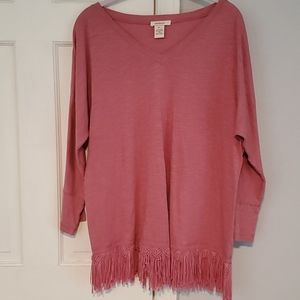 Sundance Dolman Sleeve Bottom Fringe Top